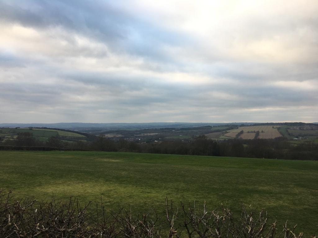 Winter field andscape in Sheffield